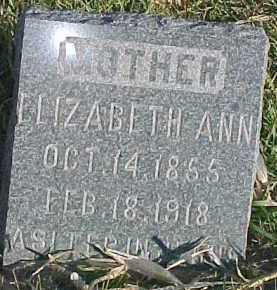 CONNELL, ELIZABETH ANN - Dixon County, Nebraska | ELIZABETH ANN CONNELL - Nebraska Gravestone Photos
