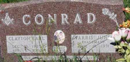 CONRAD, CLAYTON EARL - Dixon County, Nebraska | CLAYTON EARL CONRAD - Nebraska Gravestone Photos