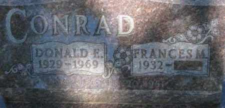CONRAD, FRANCES M. - Dixon County, Nebraska | FRANCES M. CONRAD - Nebraska Gravestone Photos