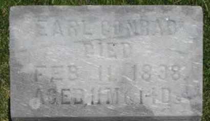 CONRAD, EARL - Dixon County, Nebraska | EARL CONRAD - Nebraska Gravestone Photos