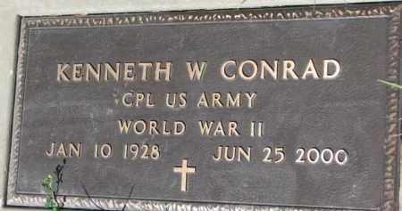 CONRAD, KENNETH W. (WW II MARKER) - Dixon County, Nebraska   KENNETH W. (WW II MARKER) CONRAD - Nebraska Gravestone Photos