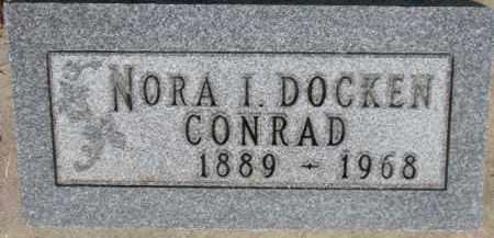 CONRAD, NORA I. - Dixon County, Nebraska | NORA I. CONRAD - Nebraska Gravestone Photos