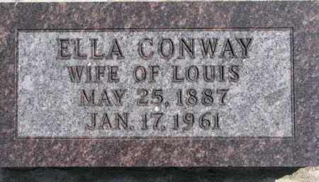 CONWAY, ELLA - Dixon County, Nebraska | ELLA CONWAY - Nebraska Gravestone Photos