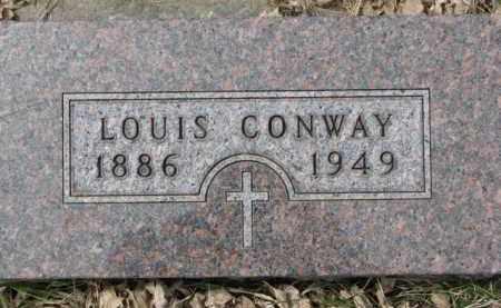 CONWAY, LOUIS - Dixon County, Nebraska | LOUIS CONWAY - Nebraska Gravestone Photos