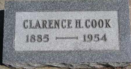 COOK, CLARENCE H. - Dixon County, Nebraska   CLARENCE H. COOK - Nebraska Gravestone Photos