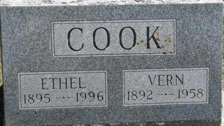 COOK, ETHEL - Dixon County, Nebraska   ETHEL COOK - Nebraska Gravestone Photos
