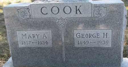 COOK, MARY A. - Dixon County, Nebraska | MARY A. COOK - Nebraska Gravestone Photos