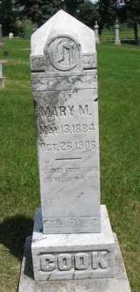 COOK, MARY M. - Dixon County, Nebraska | MARY M. COOK - Nebraska Gravestone Photos