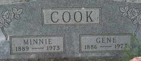 COOK, MINNIE - Dixon County, Nebraska | MINNIE COOK - Nebraska Gravestone Photos