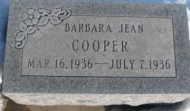 COOPER, BARBARA JEAN - Dixon County, Nebraska | BARBARA JEAN COOPER - Nebraska Gravestone Photos