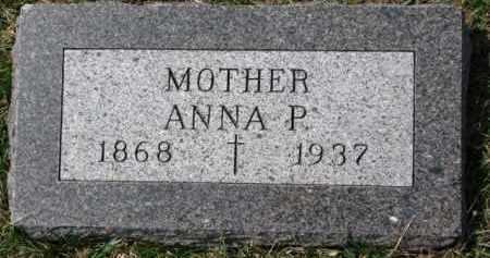COTTER, ANNA P. - Dixon County, Nebraska | ANNA P. COTTER - Nebraska Gravestone Photos