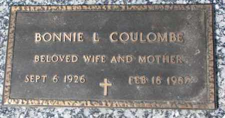 COULOMBE, BONNIE L. - Dixon County, Nebraska | BONNIE L. COULOMBE - Nebraska Gravestone Photos