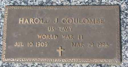 COULOMBE, HAROLD J. (WW II MARKER) - Dixon County, Nebraska | HAROLD J. (WW II MARKER) COULOMBE - Nebraska Gravestone Photos
