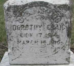 CRAIG, DOROTHY - Dixon County, Nebraska | DOROTHY CRAIG - Nebraska Gravestone Photos