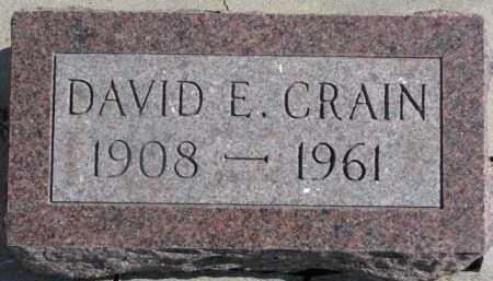 CRAIN, DAVID E. - Dixon County, Nebraska | DAVID E. CRAIN - Nebraska Gravestone Photos
