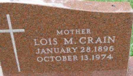 CRAIN, LOIS M. - Dixon County, Nebraska | LOIS M. CRAIN - Nebraska Gravestone Photos