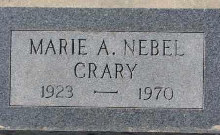 CRARY, MARIE A. - Dixon County, Nebraska | MARIE A. CRARY - Nebraska Gravestone Photos