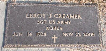 CREAMER, LEROY J. (MILITARY) - Dixon County, Nebraska | LEROY J. (MILITARY) CREAMER - Nebraska Gravestone Photos