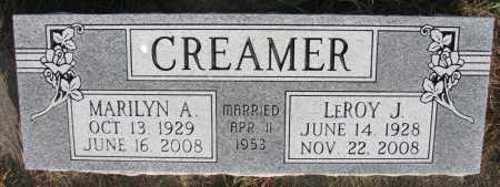 CREAMER, MARILYN A. - Dixon County, Nebraska | MARILYN A. CREAMER - Nebraska Gravestone Photos