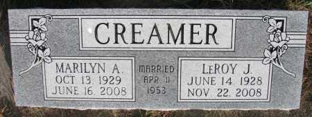 CREAMER, LEROY J. - Dixon County, Nebraska | LEROY J. CREAMER - Nebraska Gravestone Photos