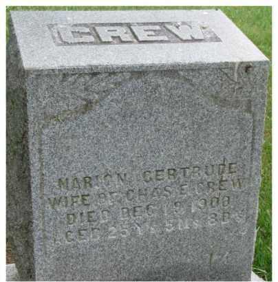 CREW, MARION GERTRUDE - Dixon County, Nebraska | MARION GERTRUDE CREW - Nebraska Gravestone Photos