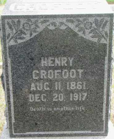 CROFOOT, HENRY - Dixon County, Nebraska | HENRY CROFOOT - Nebraska Gravestone Photos