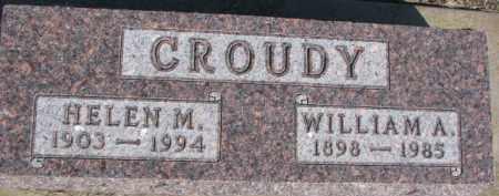 CROUDY, WILLIAM A. - Dixon County, Nebraska | WILLIAM A. CROUDY - Nebraska Gravestone Photos