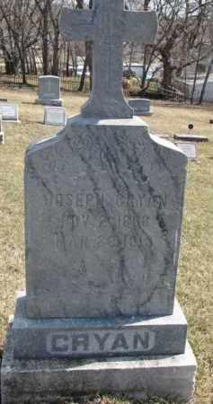 CRYAN, JOSEPH - Dixon County, Nebraska   JOSEPH CRYAN - Nebraska Gravestone Photos