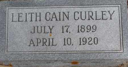 CAIN CURLEY, LEITH - Dixon County, Nebraska   LEITH CAIN CURLEY - Nebraska Gravestone Photos