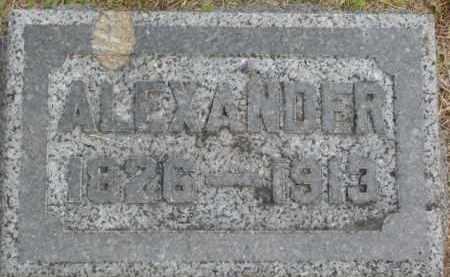CURRY, ALEXANDER - Dixon County, Nebraska | ALEXANDER CURRY - Nebraska Gravestone Photos