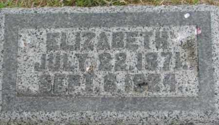 CURRY, ELIZABETH - Dixon County, Nebraska | ELIZABETH CURRY - Nebraska Gravestone Photos