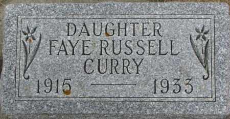 CURRY, FAYE - Dixon County, Nebraska | FAYE CURRY - Nebraska Gravestone Photos