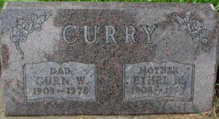CURRY, GURN W. - Dixon County, Nebraska | GURN W. CURRY - Nebraska Gravestone Photos