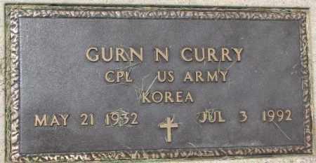 CURRY, GURN N. (KOREA MARKER) - Dixon County, Nebraska | GURN N. (KOREA MARKER) CURRY - Nebraska Gravestone Photos