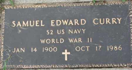 CURRY, SAMUEL EDWARD (WW II MARKER) - Dixon County, Nebraska   SAMUEL EDWARD (WW II MARKER) CURRY - Nebraska Gravestone Photos