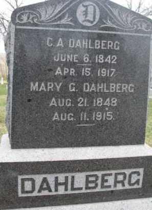 DAHLBERG, C.A. - Dixon County, Nebraska   C.A. DAHLBERG - Nebraska Gravestone Photos