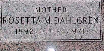 DAHLGREN, ROSETTA M. - Dixon County, Nebraska | ROSETTA M. DAHLGREN - Nebraska Gravestone Photos