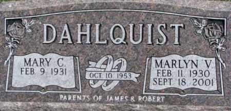 DAHLQUIST, MARY C. - Dixon County, Nebraska | MARY C. DAHLQUIST - Nebraska Gravestone Photos