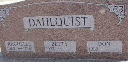 DAHLQUIST, RACHELLE - Dixon County, Nebraska | RACHELLE DAHLQUIST - Nebraska Gravestone Photos