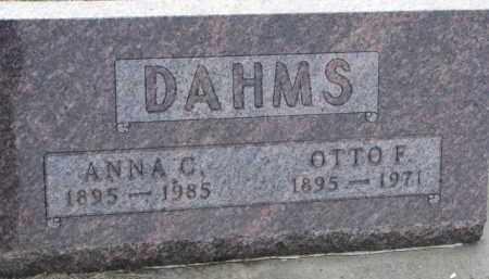 DAHMS, OTTO F. - Dixon County, Nebraska   OTTO F. DAHMS - Nebraska Gravestone Photos