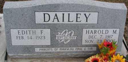 DAILEY, EDITH F. - Dixon County, Nebraska   EDITH F. DAILEY - Nebraska Gravestone Photos
