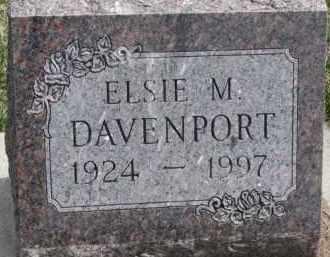 DAVENPORT, ELSIE M. - Dixon County, Nebraska | ELSIE M. DAVENPORT - Nebraska Gravestone Photos