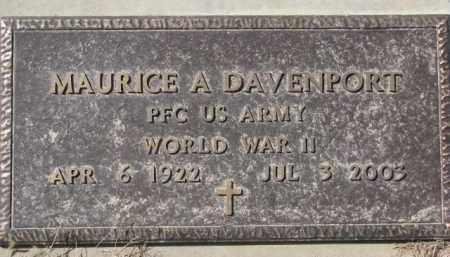 DAVENPORT, MAURICE A. (WW II MARKER) - Dixon County, Nebraska | MAURICE A. (WW II MARKER) DAVENPORT - Nebraska Gravestone Photos