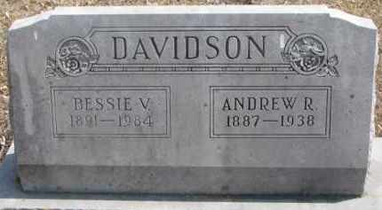 DAVIDSON, BESSIE V. - Dixon County, Nebraska | BESSIE V. DAVIDSON - Nebraska Gravestone Photos