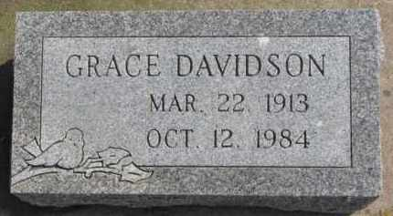DAVIDSON, GRACE - Dixon County, Nebraska | GRACE DAVIDSON - Nebraska Gravestone Photos