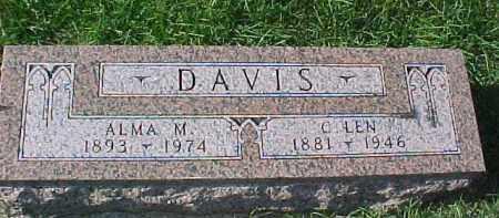 DAVIS, ALMA M. - Dixon County, Nebraska | ALMA M. DAVIS - Nebraska Gravestone Photos