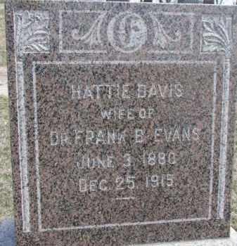 DAVIS EVANS, HATTIE - Dixon County, Nebraska | HATTIE DAVIS EVANS - Nebraska Gravestone Photos