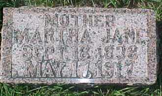 DAVIS, MARTHA JANE - Dixon County, Nebraska | MARTHA JANE DAVIS - Nebraska Gravestone Photos