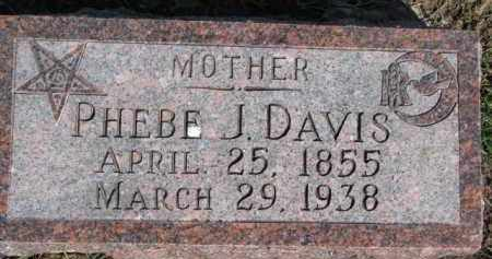 DAVIS, PHEBE J. - Dixon County, Nebraska | PHEBE J. DAVIS - Nebraska Gravestone Photos