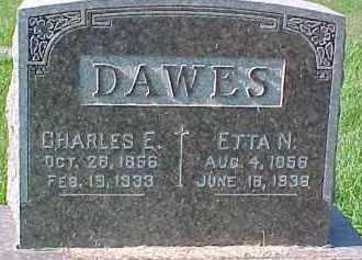DAWES, ETTA N. - Dixon County, Nebraska | ETTA N. DAWES - Nebraska Gravestone Photos